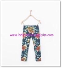 Zara kız çocuk çiçek desenli cepli pantolon-20 TL