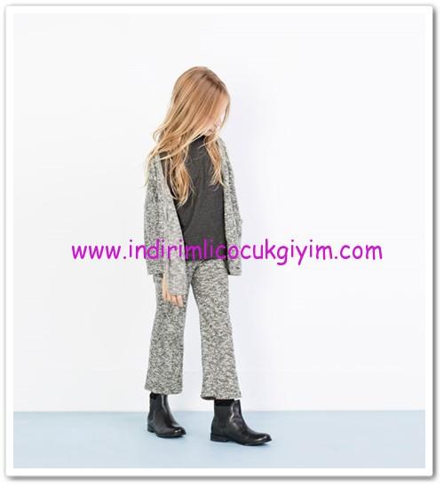 Zara kız çocuk gri çan pantolon-30 TL