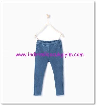 Zara kız çocuk mavi basic tayt pantolon-20 TL