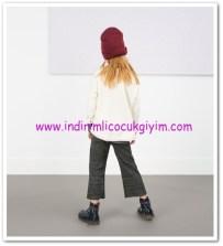 Zara kız çocuk orta gri kısa paçalı pantolon-36 TL