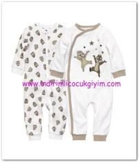 HM-kız bebek beyaz baskılı çıtçıtlı 2 li pijama-50 TL