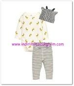 HM-kız bebek beyaz zürafa desenli jarse takım-30 TL