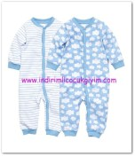 HM-kız bebek mavi 2 li pijama-40 TL