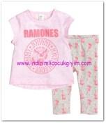 HM-kız bebek pembe bluz-tayt takımı-40 TL