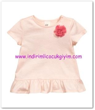 HM-kız bebek pembe fırfırlı bluz-20 TL
