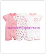 HM-kız bebek pembe tulum pijama-50 TL