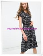 Koton siyah desenli genç kız elbise-16 TL