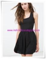 Koton siyah kolsuz genç kız mini elbise-20 TL