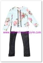 Tozlu 4-6 yaş kız çocuk ceket-body-tayt takımı-50 TL