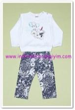 Tozlu Giyim ayıcık baskılı bebek 2li takım-20 TL