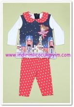 Tozlu Giyim baskılı bebek 2li takım-20 TL