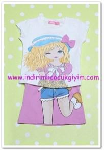 Tozlu Giyim lila kız çocuk etekli takım-23 TL