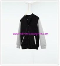 Zara erkek çocuk kolej sweatshirt siyah-gri ceket-50 TL