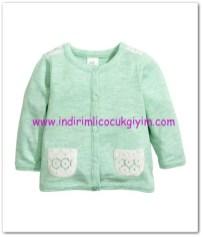 hm-kız bebek nane yeşili-pamuklu hırka-35 TL