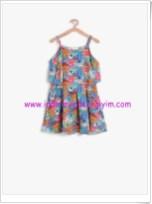 Koton kız çocuk çiçek desenli elbise-46 TL