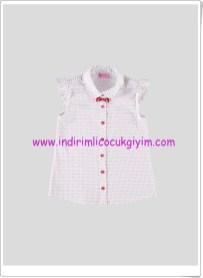 LCW kız çocuk kırmızı noktalı beyaz gömlek-20 TL