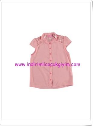 LCW kız çocuk pembe gömlek-25 TL