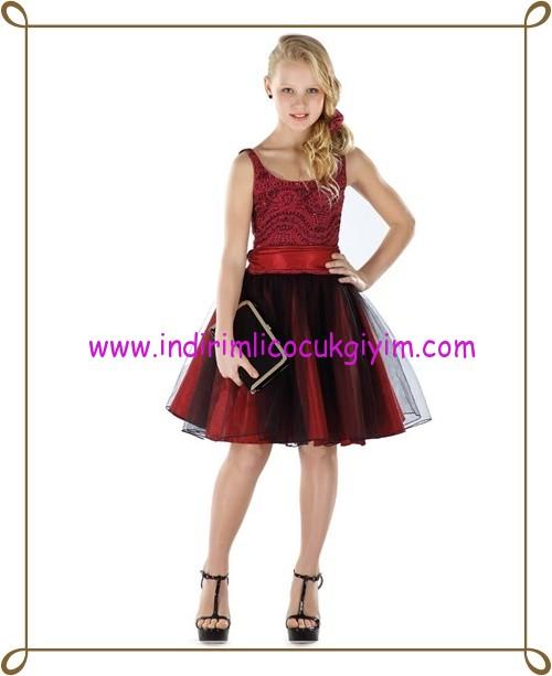 Puledro bordo kız çocuk abiye elbise-73 TL