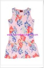 U.S Polo kız çocuk çiçeK desenli pembe elbise-30 TL