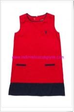 U.S Polo kız çocuk kırmızı spor elbise-65 TL