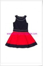 U.S polo kız çocuk lacivert-kırmızı elbise-60 TL