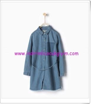 Zara kız çocuk kemerli denim elbise-76 TL