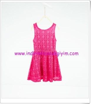 Zara kız çocuk pembe elbise-56 TL