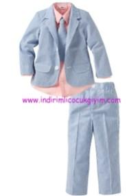 Bonprix erkek çocuk açık mavi çizgili takım elbise