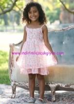 Bonprix kız çocuk çiçek baskılı askılı elbise