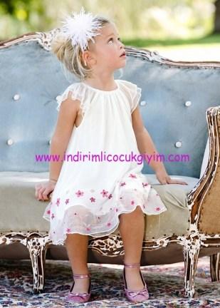 Bonprix kız çocuk beyaz A kesim astarlı elbise