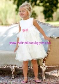 Bonprix kız çocuk beyaz tül etekli volanlı elbise
