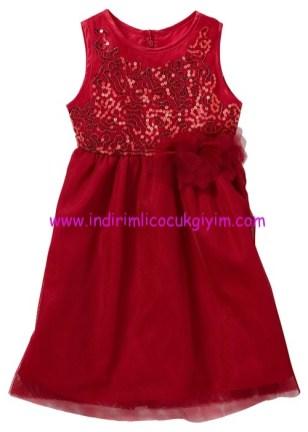 Bonprix kız çocuk kırmızı abiye elbise