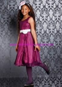 Bonprix kız çocuk mor şifon tül abiye elbise