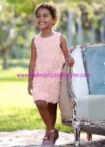 Bonprix kız çocuk pembe kolsuz elbise