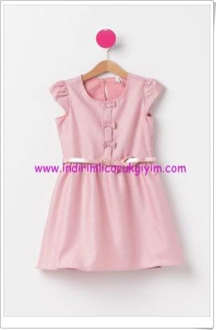 DeFacto kız çocuk pembe kemerli elbise-50 TL