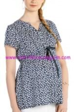 Ebru maternity desenli hamile bluz
