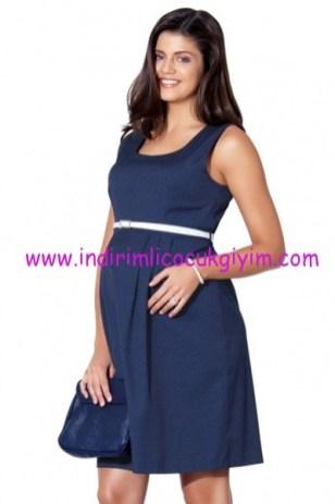 Ebru maternity lacivert hamile elbisesi