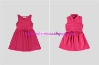 LCW kız çocuk fuşya elbise modelleri