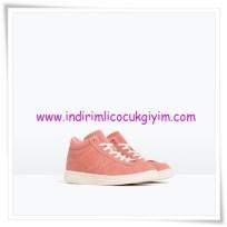 Zara kız çocuk pembe bağcıklı sneaker-110 TL