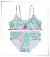 hm-kız çocuk yeşil desenli bikini-30 TL