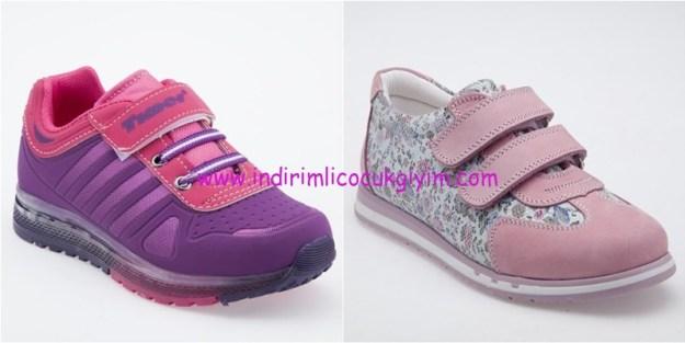yeşil Kundura kız çocuk spor ayakkabıları