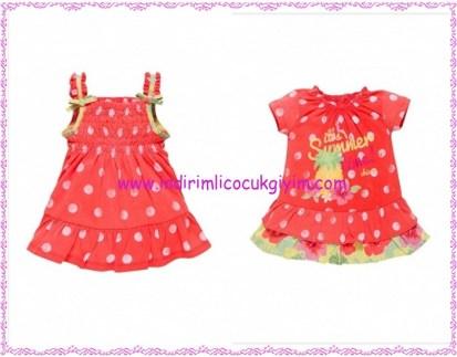 Chicco puantiyeli kız çocuk elbiseleri