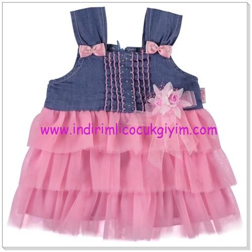 Civil pembe kız çocuk elbise