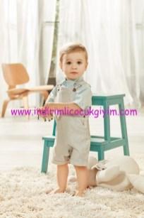 Koton erkek bebek askılı şort tulum