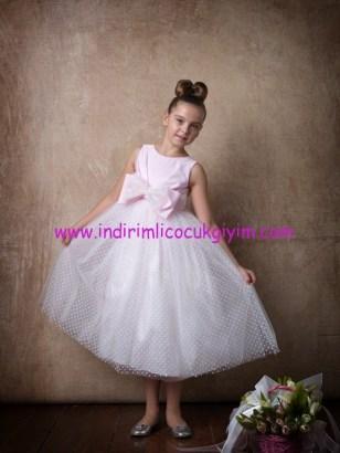Little Fairy kız çocuk kurdelalı abiye elbise