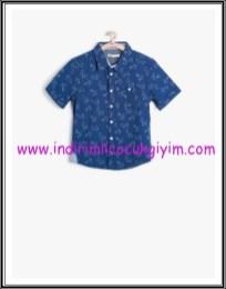Koton erkek çocuk lacivert gömlek