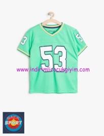 Koton erkek çocuk yeşil baskılı tişört