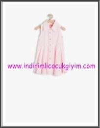Koton kız çocuk pembe çizgili elbise