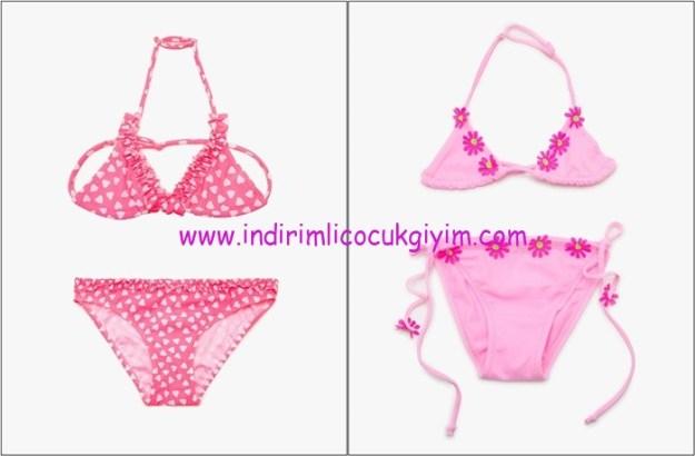 Koton kız çocuk pembe bikini modelleri