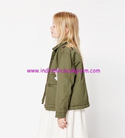 Zara kız çocuk haki ceket